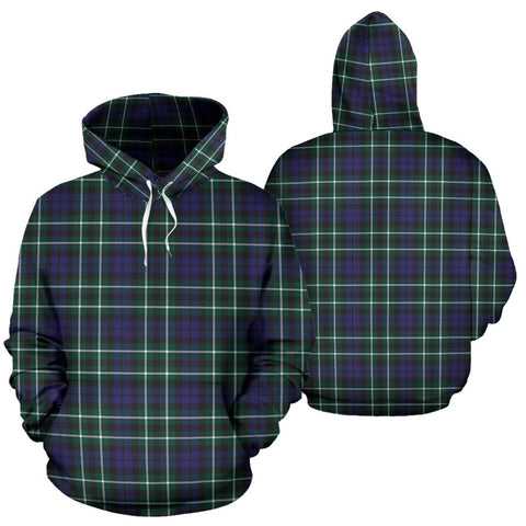 Graham Of Montrose Modern Tartan Hoodie, Scottish Graham Of Montrose Modern Plaid Pullover Hoodie