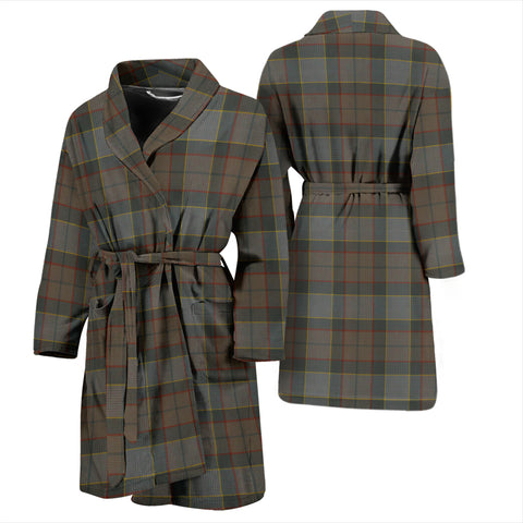 Image of Outlander Fraser Tartan Mens Bathrobe - BN