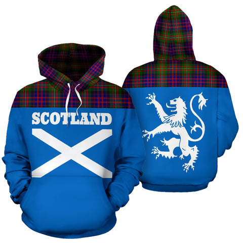 Tartan All Over Hoodie - Lion MacDonnell of Glengarry Modern