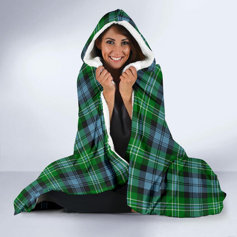 Image of Arbuthnot Clans Tartan Hooded Blanket - BN