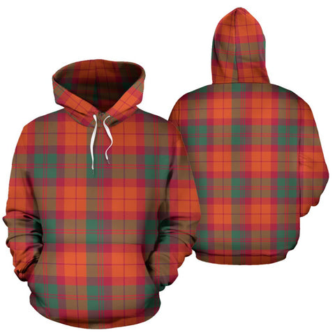 Macnab Ancient Tartan Hoodie, Scottish Macnab Ancient Plaid Pullover Hoodie
