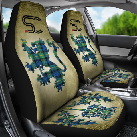 Image of Gordon Ancient Tartan Car Seat Cover Lion and Thistle Special Style TH8