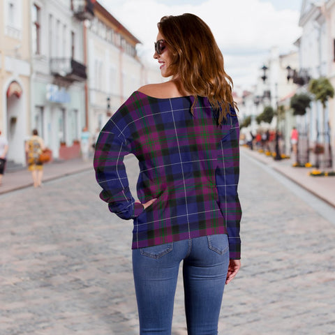 Tartan Womens Off Shoulder Sweater - Pride Of Scotland - BN