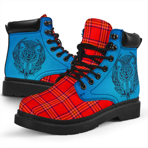 Burnett Modern Tartan All-Season Boots - Celtic Thistle TH8