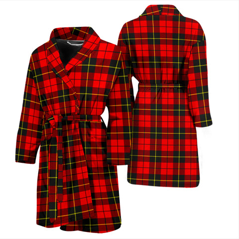 Wallace Hunting - Red Tartan Mens Bathrobe - BN