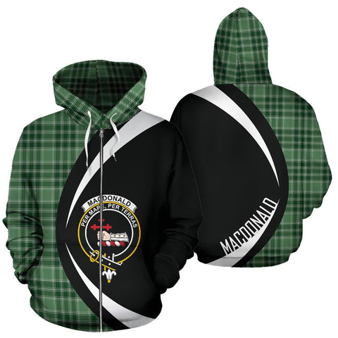 MacDonald Lord of the Isles Hunting Tartan Circle Zip Hoodie HJ4