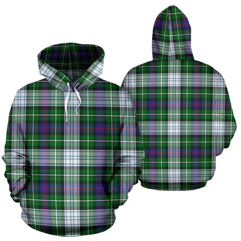 Mackenzie Dress Modern Tartan Hoodie, Scottish Mackenzie Dress Modern Plaid Pullover Hoodie