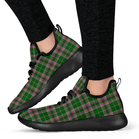 Image of Tartan Mesh Knit Sneakers - Gray Hunting