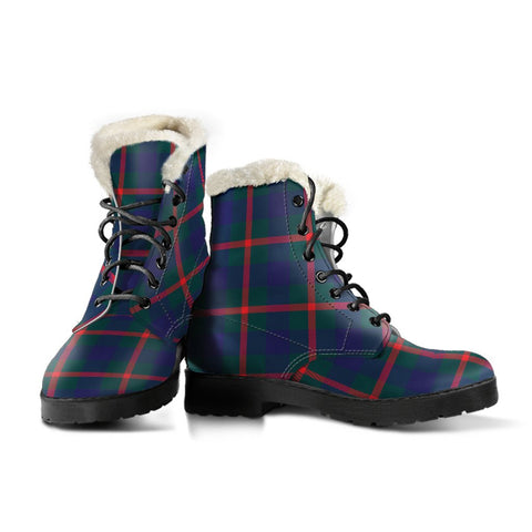 Image of Agnew Modern Tartan Boots For Women