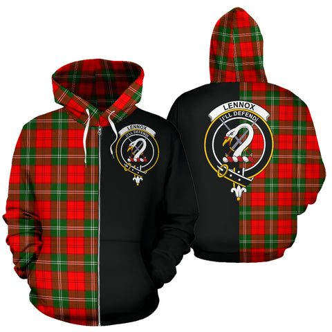 Image of Lennox Modern Tartan Hoodie Half Of Me TH8