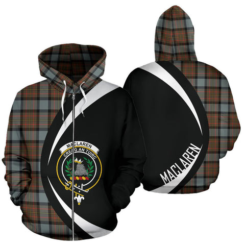 MacLaren Weathered Tartan Circle Zip Hoodie HJ4