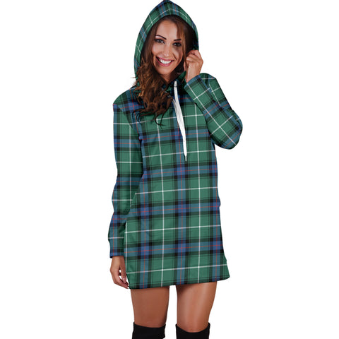 Image of MacDonald of the Isles Hunting Ancient Tartan Hoodie Dress HJ4