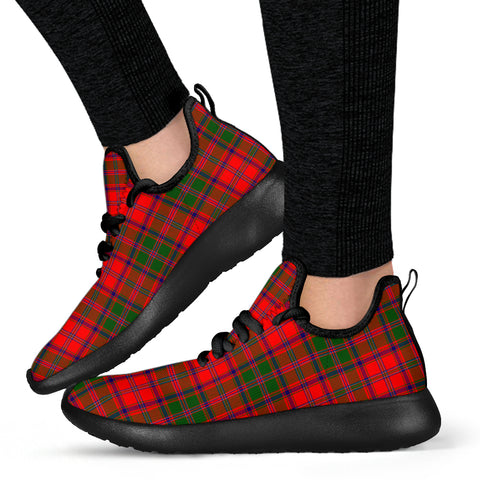 Image of Tartan Mesh Knit Sneakers - Stewart of Appin Modern