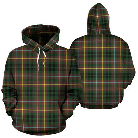 Buchanan Hunting Tartan Hoodie, Scottish Buchanan Hunting Plaid Pullover Hoodie