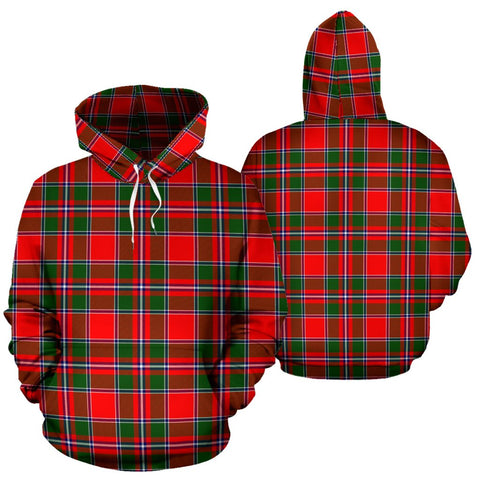 Image of Spens Modern Tartan Hoodie, Scottish Spens Modern Plaid Pullover Hoodie