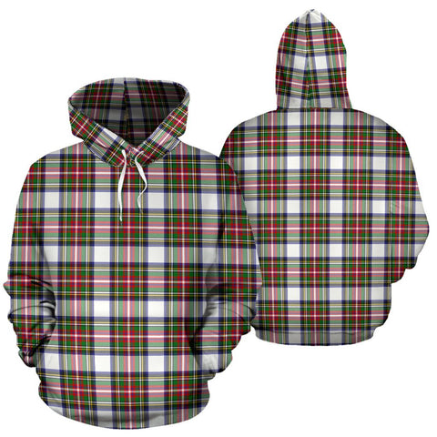 Stewart Dress Modern Tartan Hoodie, Scottish Stewart Dress Modern Plaid Pullover Hoodie