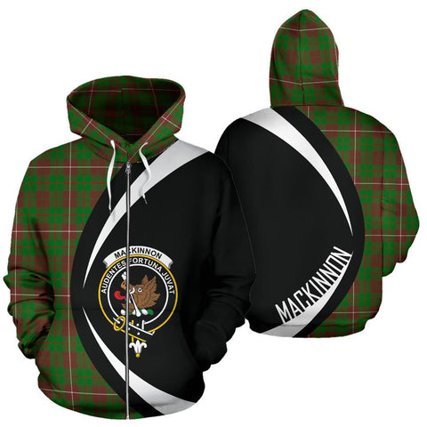 MacKinnon Hunting Modern Tartan Circle Zip Hoodie HJ4