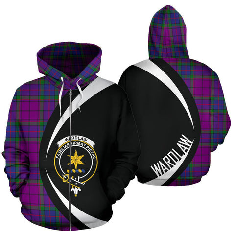 Image of Wardlaw Modern Tartan Circle Zip Hoodie HJ4