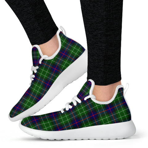 Image of Tartan Mesh Knit Sneakers - Leslie Hunting - BN