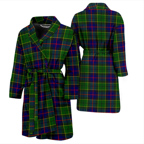 Forsyth Modern Tartan Mens Bathrobe - BN