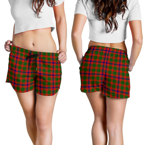 Skene Modern Tartan Shorts For Women K7