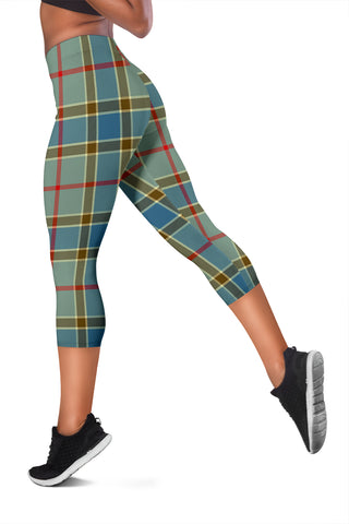 Image of Balfour Blue Tartan Capris Leggings