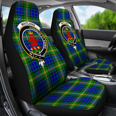 Maitland Tartan Car Seat Covers - Clan Badge K7