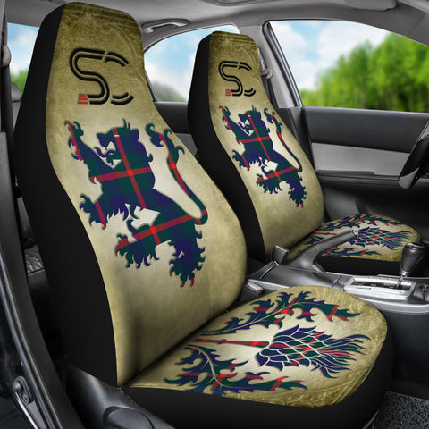 Agnew Modern Tartan Car Seat Cover Lion and Thistle Special Style TH8