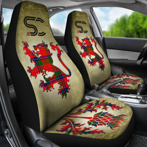 Nicolson Modern Tartan Car Seat Cover Lion and Thistle Special Style TH8