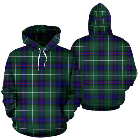 Image of Macdonald Of The Isles Hunting Modern Tartan Hoodie, Scottish Macdonald Of The Isles Hunting Modern Plaid Pullover Hoodie