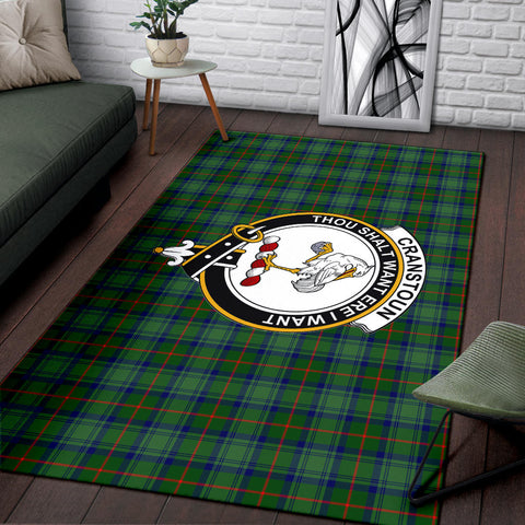 Cranstoun Clan Tartan Area Rug, Scottish Clans Tartan Area Rug, Scottish Rug, Scotland Area Rug
