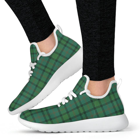 Image of Tartan Mesh Knit Sneakers - Ross Hunting Ancient - BN