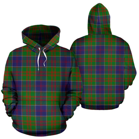 Stewart Of Appin Hunting Modern Tartan Hoodie, Scottish Stewart Of Appin Hunting Modern Plaid Pullover Hoodie