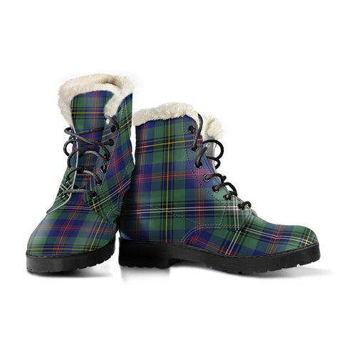 Wood Modern Tartan Boots For Women