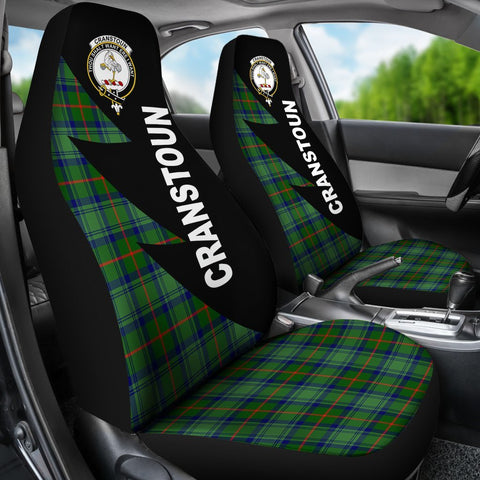 Image of Cranstoun Clans Tartan Car Seat Covers - Flash Style - BN