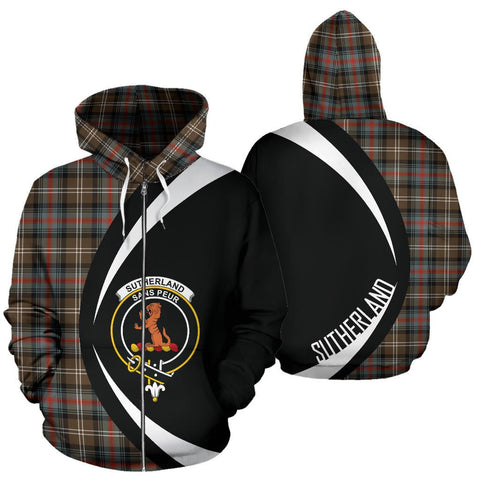 Sutherland Weathered Tartan Circle Zip Hoodie HJ4