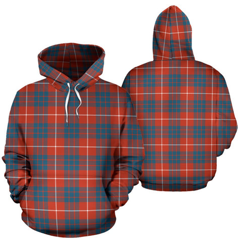 Hamilton Ancient Tartan Hoodie, Scottish Hamilton Ancient Plaid Pullover Hoodie