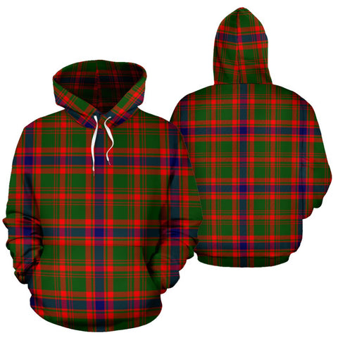 Nithsdale District Tartan Hoodie, Scottish Nithsdale District Plaid Pullover Hoodie
