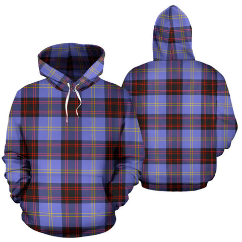Image of Rutherford Tartan Hoodie, Scottish Rutherford Plaid Pullover Hoodie