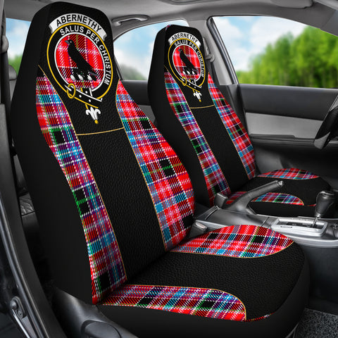 Abernethy Tartan Car Seat Cover Clan Badge - Special Version