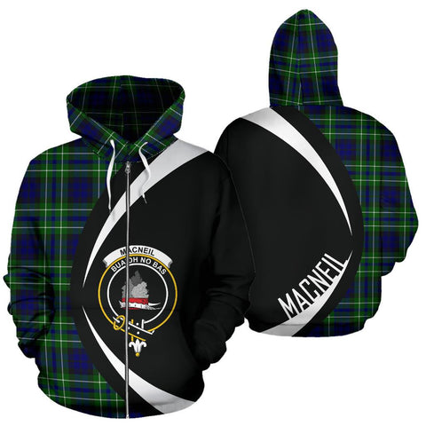 MacNeil of Colonsay Modern Tartan Circle Zip Hoodie HJ4