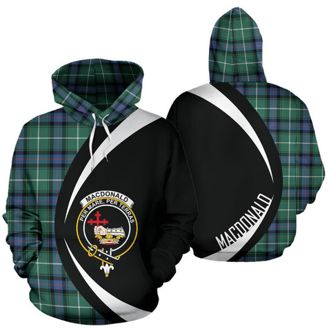 MacDonald of the Isles Hunting Ancient Tartan Circle Hoodie HJ4