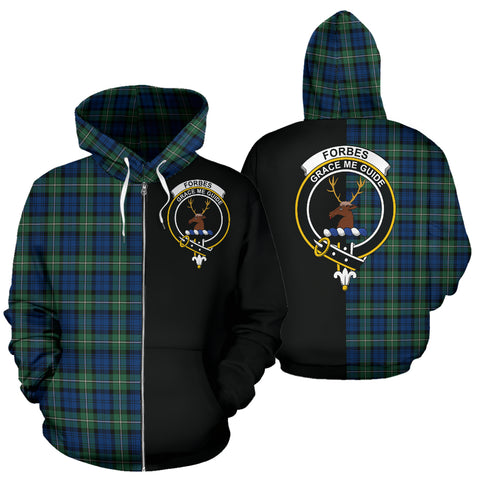 Forbes Ancient Tartan Hoodie Half Of Me TH8