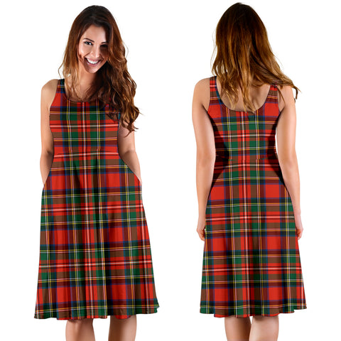 Stewart Royal Modern Plaid Women's Dress