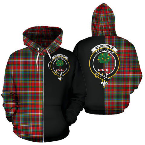 Anderson of Arbrake Tartan Hoodie Half Of Me TH8