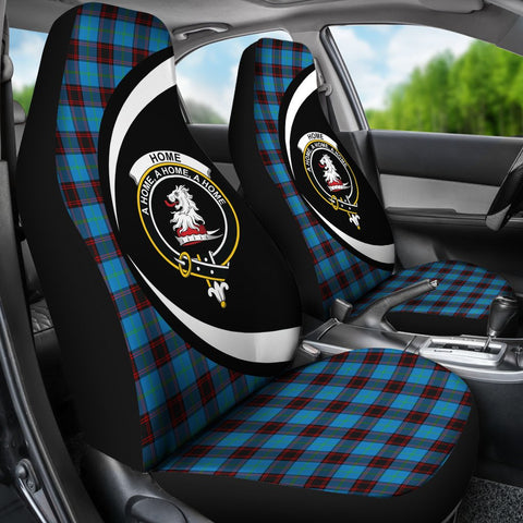 Home Ancient Tartan Clan Crest Car Seat Cover - Circle Style HJ4