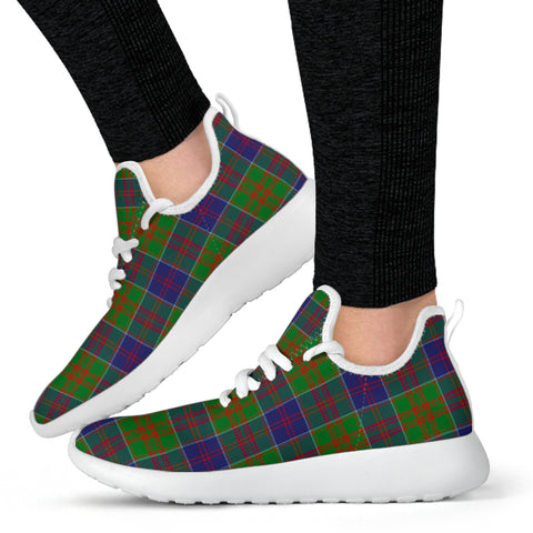 Image of Tartan Mesh Knit Sneakers - Stewart of Appin Hunting Modern - BN