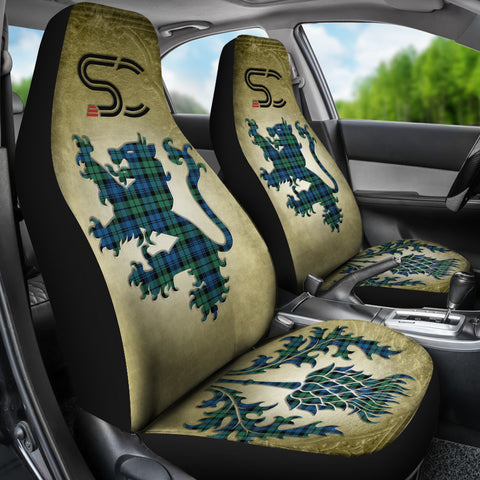 Campbell Ancient 02 Tartan Car Seat Cover Lion and Thistle Special Style TH8