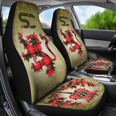 Nesbitt Modern Tartan Car Seat Cover Lion and Thistle Special Style TH8