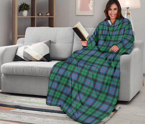 Image of Morrison Ancient Tartan Clans Sleeve Blanket K6